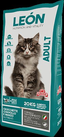 LEÓN pet food alimento completo per gatti ADULT