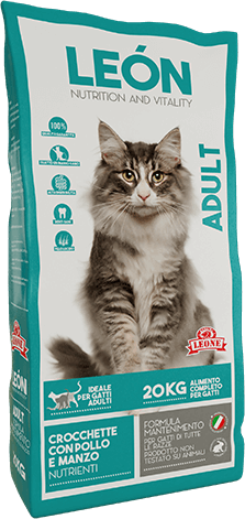 LEÓN pet food alimento completo per gatti ADULT