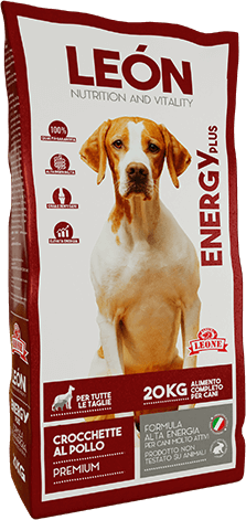 LEÓN pet food alimento completo per cane ENERGY