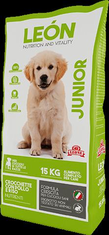 LEÓN pet food alimento completo per cane JUNIOR