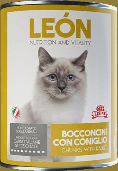 LEÓN pet food gatto bocconcini coniglio