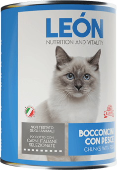 LEÓN pet food gatto bocconcini pesce