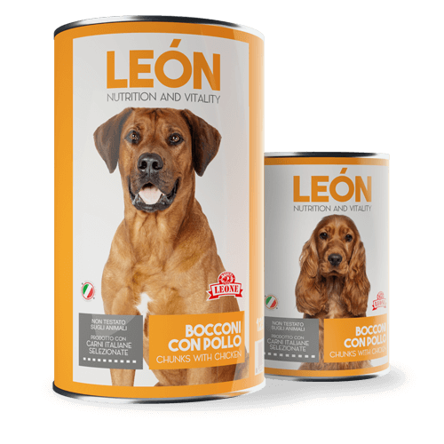 LEÓN pet food cane bocconcini pollo