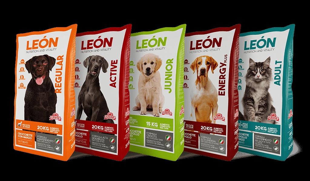 LEÓN pet food, linea di alimenti per cani e gatti